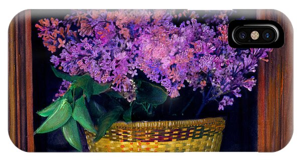 Lilacs Framed IPhone Case