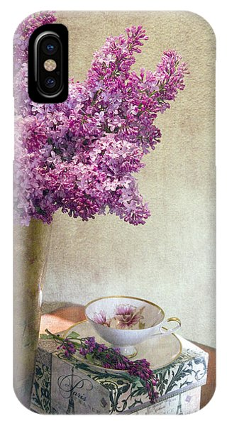 Lilacs In Vase 3 IPhone Case