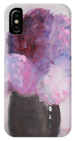 Dark Violet iPhone Case - Lilacs Still Life Floral Painting by Nancy Merkle