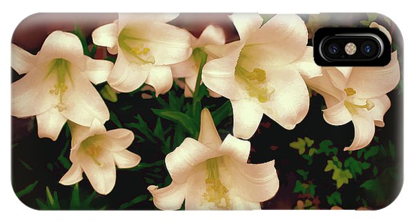 Lilies Aglow IPhone Case