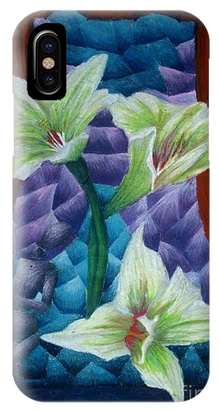 Lilies Phone Case by Coriander  Shea
