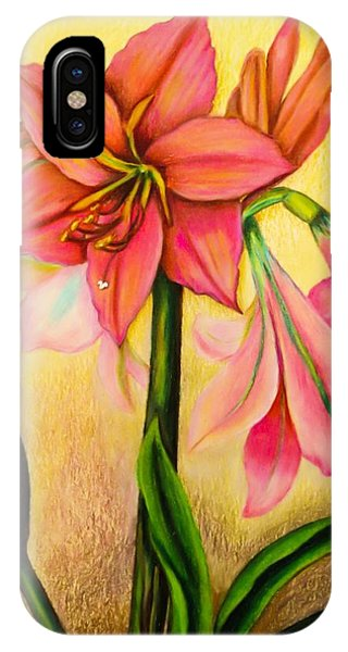Close Up Floral iPhone Case - Lilies by Zina Stromberg