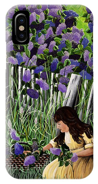 Lillian's Lilacs IPhone Case