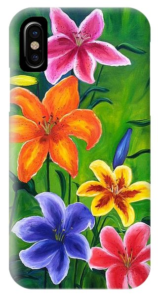 Lily Garden IPhone Case