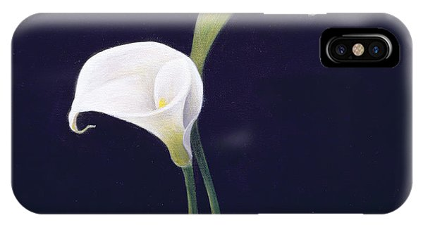 White Background iPhone Case - Lily by Lincoln Seligman