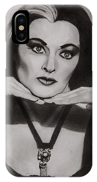 Mockingbird iPhone Case - Lily Munster by Brian Broadway