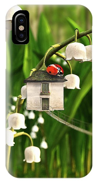 Ladybug iPhone Case - Lily Of The Valley by Cynthia Decker