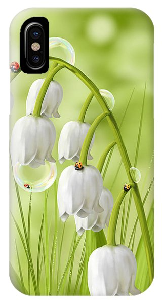 Ladybug iPhone Case - Lily Of The Valley by Veronica Minozzi