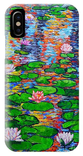 Lily Pond Colorful Reflections IPhone Case