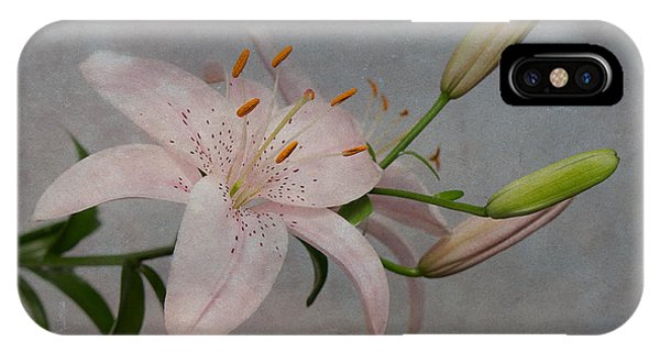 Pink Lily With Texture IPhone Case