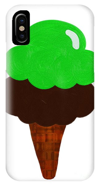 Frozen Food iPhone Case - Lime And Chocolate Ice Cream by Andee Design