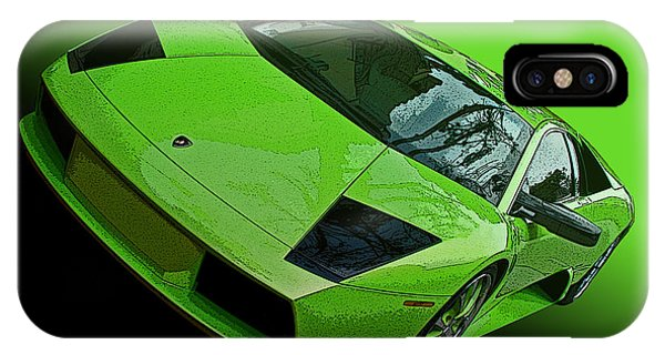 Lime Green Lamborghini Murcielago IPhone Case