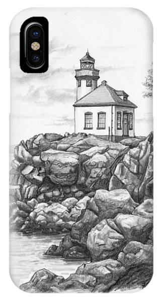 Lime Kiln Lighthouse IPhone Case