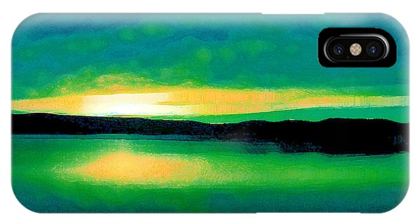 Lime Sunset IPhone Case