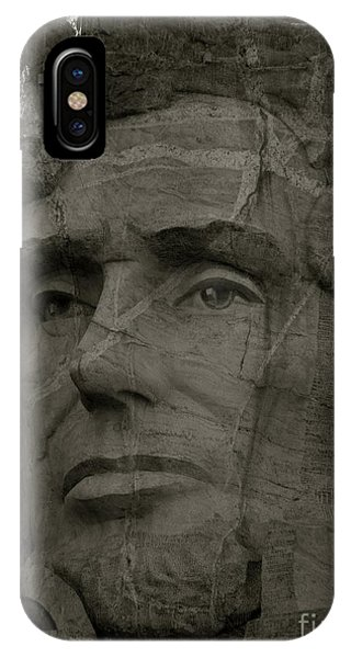 Lincoln Black And White IPhone Case