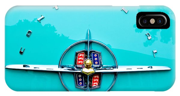 Lincoln Continental iPhone Case - Lincoln Continental Rear Emblem by Jill Reger