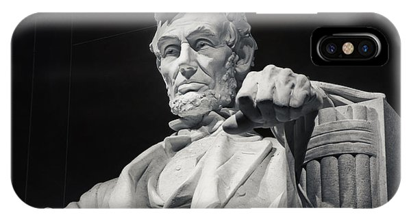 Lincoln Memorial iPhone Case - Lincoln by Joan Carroll