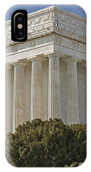 Lincoln Memorial iPhone Case - Lincoln Memorial Pillars by Susan Candelario