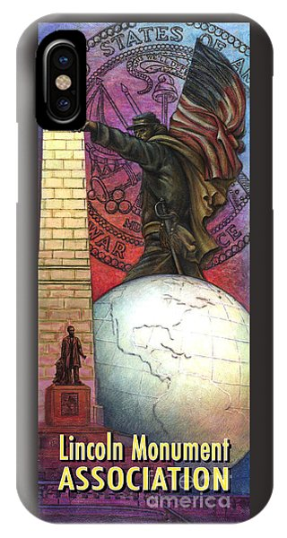 Lincoln Monuments Street Banners Civil War Flag Bearer IPhone Case