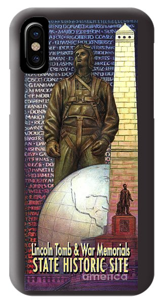 Lincoln Tomb And War Memorials Street Banners Korean War Pilot IPhone Case