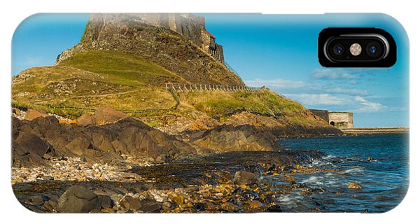 Lindisfarne Castle Phone Case by David Ross