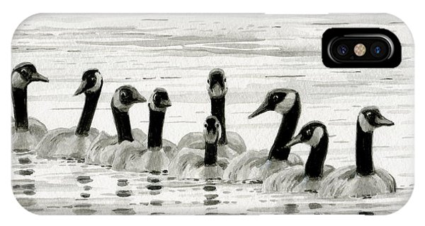 Line Of Geese IPhone Case