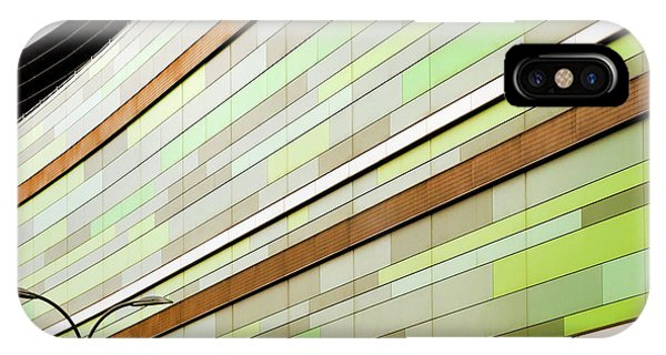 Facade iPhone Case - Linear In Green by Linda Wride