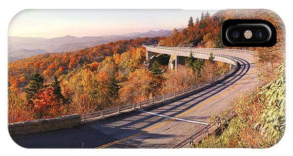 Linn Cove Viaduct On An Autumn Morning IPhone Case