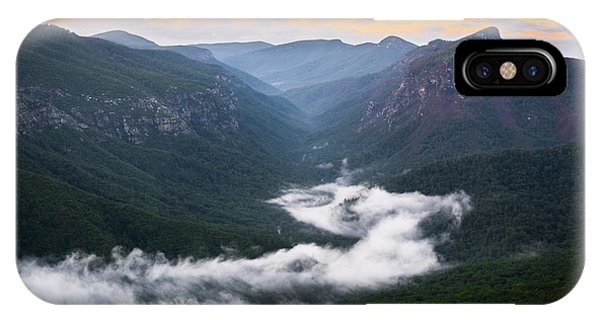 Linville River Of Fog IPhone Case