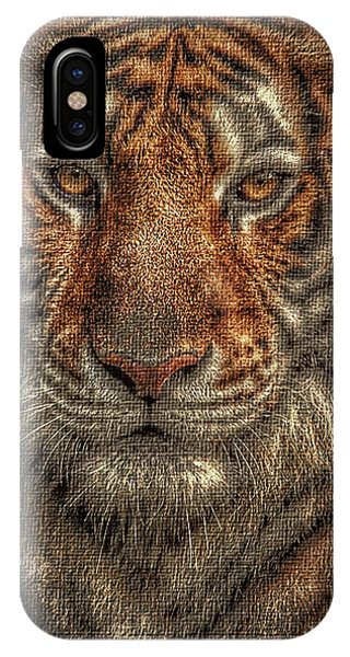 Lion Canvas Portrait IPhone Case