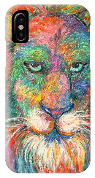 iPhone Case - Lion Explosion by Kendall Kessler