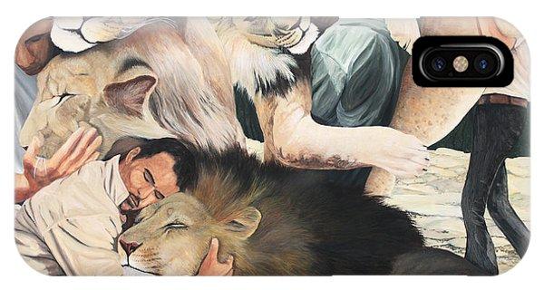 Lion Hugs IPhone Case