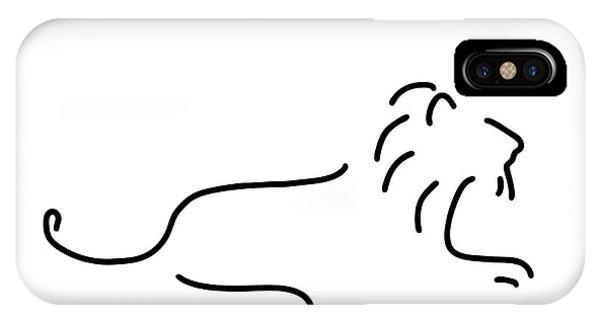 Lion iPhone Case - Lion Mane by Lineamentum