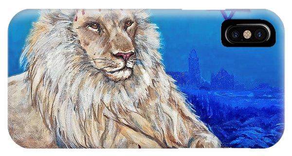 Lion Of Judah Before Jeruselum IPhone Case
