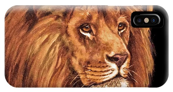Lion Of Judah - Menorah IPhone Case