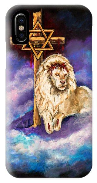 Lion Of Judah Original Painting Forsale IPhone Case