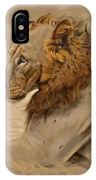 Lion Portrait Phone Case by Aaron Blaise