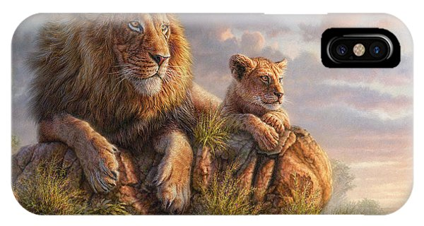 Africa iPhone X Case - Lion Pride by Phil Jaeger