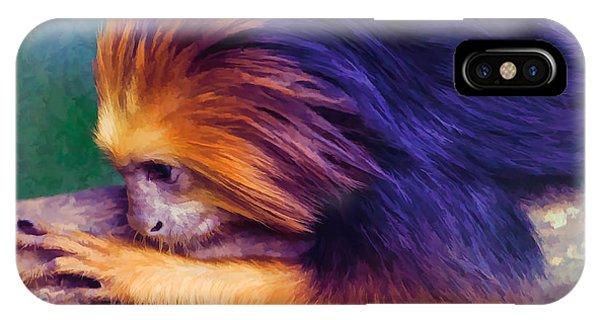 Lion Tamarin IPhone Case