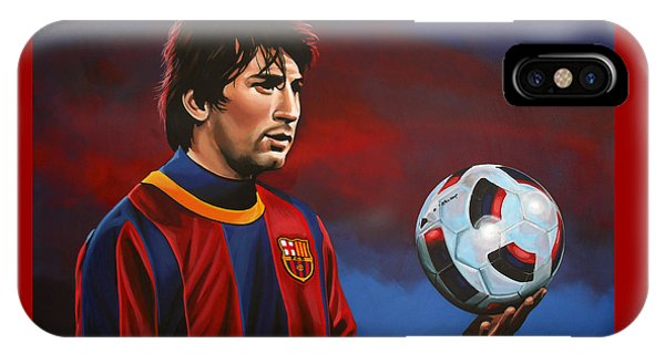 Players iPhone Case - Lionel Messi 2 by Paul Meijering
