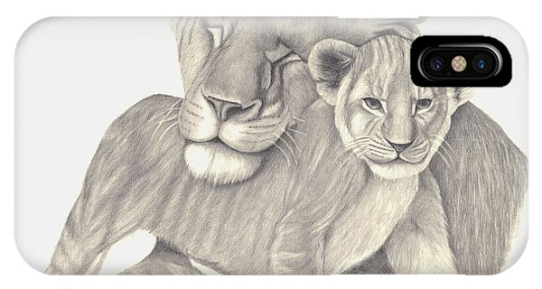 Lioness And Cub IPhone Case