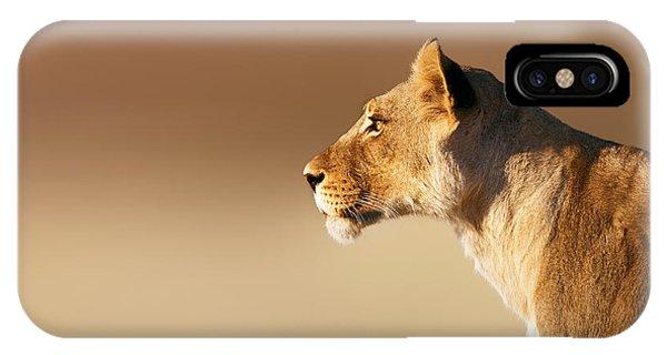 Lion iPhone Case - Lioness Portrait by Johan Swanepoel