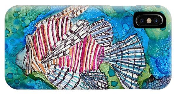 iPhone Case - Lionfish by Alene Sirott-Cope