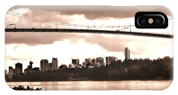 Vancouver Skyline iPhone Case - Lions Gate Bridge Panorama by Patricia Keith