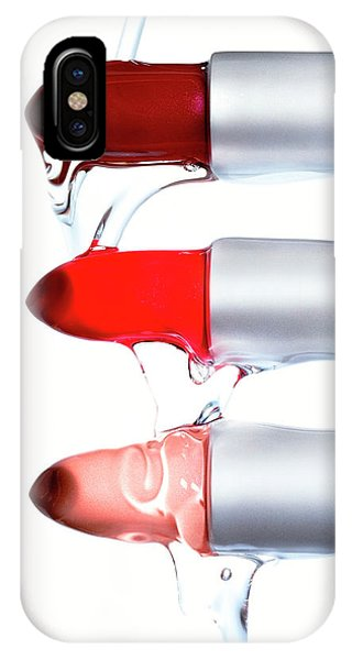 Dispenser iPhone Case - Lipsticks by Derek Lomas / Science Photo Library