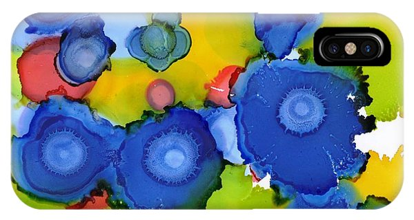 Liquid Blue Bonnets IPhone Case