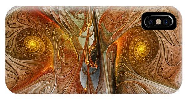 Fractal Landscape iPhone Case - Liquid Crystal Spirals by Karin Kuhlmann