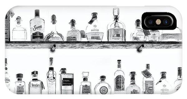 Liquor Bottles - Black And White IPhone Case