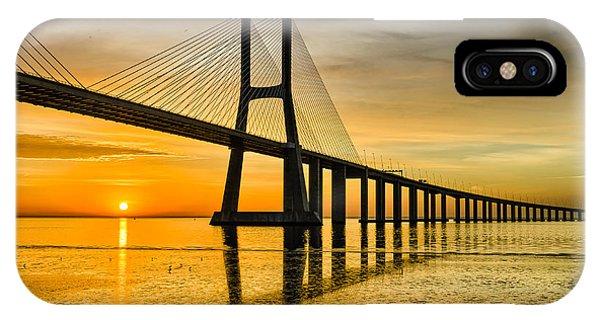 Lisbon Sunrise Phone Case by Michael Abid
