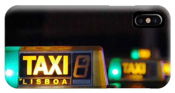 Fare iPhone Case - Lisbon Taxi Sign by Carlos Caetano